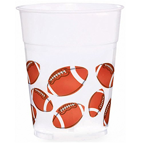 Football Fan 14oz Plastic Cups 8ct