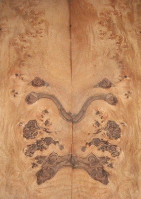 Walnut Claro Bookmatch Guitar Burl Veneer 2 Pcs @ 1/42 x 7 x 21