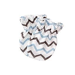 Zigzag Baby-boys Newborn Mittens Anti-Scratch Handguard Blue