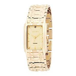 Elgin Men's FG286 Diamond Dial Textured and Nugget Bracelet Watch