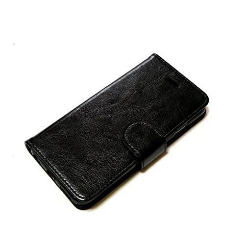 英国 Snugg製 iPhone6 ケース 手帳型 PUレザーカバー - カードポケット・スタンド機能付き (ブラック)