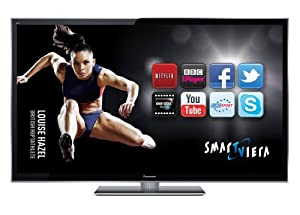 Panasonic TX-P55VT50B 55-inch Full HD 1080p 3D Smart VIERA PLASMA TV with Freeview HD and Freesat HD including 2 free pairs of 3D glasses - Black (discontinued by manufacturer)