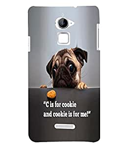 Fuson Premium C For Cookie Printed Hard Plastic Back Case Cover for Coolpad Note 3 Lite