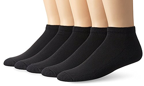 Fruit of the Loom Mens Core Stays Black 5 Pack No Show Sock, FTL-M4585B5-W1 (Fruit Of The Loom No Show compare prices)