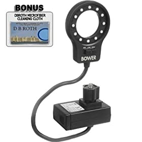 Bower SFDRLM LED Macro Ring Light For The Samsung I7 Digital Camera Photo