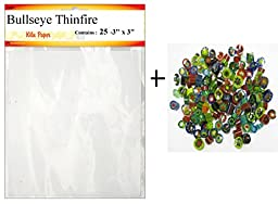 Glass Fusing Kit, Mini Thinfire Shelf Paper & Millefiori - 90 COE, Fuseworks & Bullseye Microwave Kiln Accessories