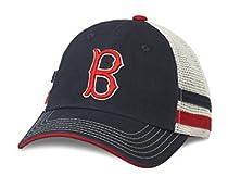 MLB American Needle Foundry Baseball Soft Mesh Back Adjustable Snapback Hat-Boston Red Sox