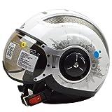 バイクヘルメット ZEUS ゼウス 218 ジェット ヘルメット レディース 半帽 ハーフ パイロット バイクヘルメット シールド付き 安全規格 xxl bike helmet JET XXL(61-62cm)