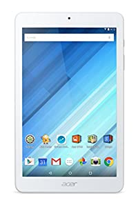 Acer Iconia One 8 B1-850 Tablet (8 inch HD IPS Touchscreen, MediaTek Cortex Quad-Core Processor, 1 GB RAM, 16 GB Storage, Android, 5 MP Rear Camera, 2 MP Front Camera, Micro SD, Bluetooth) - White from Acer