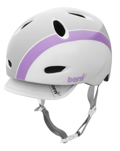 Great Features Of Bern Berkeley Summer Gloss Flower Graphic Helmet with Visor