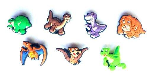 7 pezzi Dinos / Dinosaurs di Gomma Decorazione set di Decorazione di Scarpa