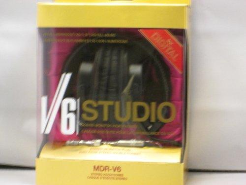 Brand New Sony Mdr-V6 High-Quality Black Stereo Headphones Mdrv6