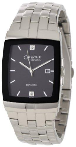 Caravelle by Bulova Men's 43D101 Dramatic Black Diamond Dial Watch
