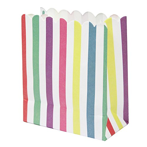 Talking Tables Mix and Match Candy Paper Multi Treat Bags (12 Pack), Mini, Multicolor