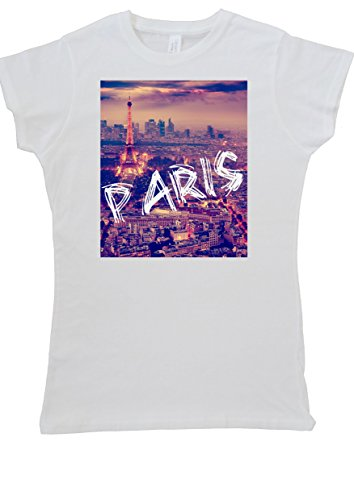 Paris Dream City Eiffel Tower Women Vest Tank Top T-Shirt -Small