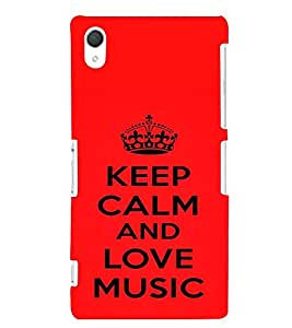 printtech Love Music Back Case Cover for Sony Xperia Z2::Sony Xperia Z2 L50W D6502 D6503