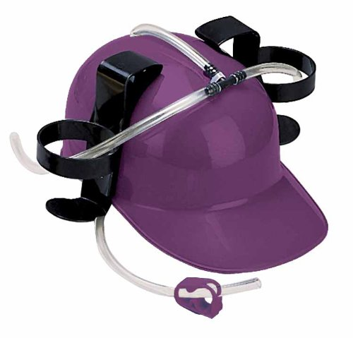 [Can You Imagine Drink Hat (Purple)] (Drinking Hats With Straws)