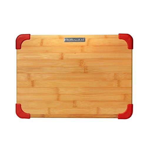 KitchenAid Non-Slip Bamboo Badge Logo Cutting Board, 11x14-Inch, Red (Kitchenaid Cutting Board compare prices)