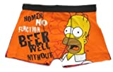 The Simpsons Homer Men's Orange Boxer Trunks Sizes S-XL Available
