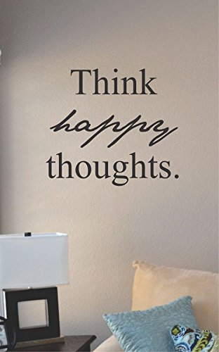 Think Happy Thoughts Vinyl Wall Art Decal Sticker front-972104