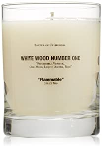 Baxter of California Scented Candle, White Wood Number One