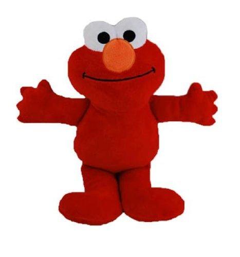 "Sesame Street 9"" Elmo Plush Doll with Bean Fill Bottom"