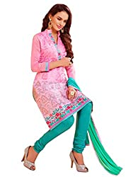 Women Icon Light Pink Embroidried Un Stitched Straight Suit WIC3SHD3011