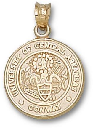 Central Arkansas Bears Seal Pendant - 14KT Gold Jewelry by Logo Art