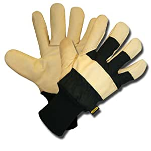 Stanley S89321 Fleece-Lined Grain Pigskin Leather Palm with Knit Wrist