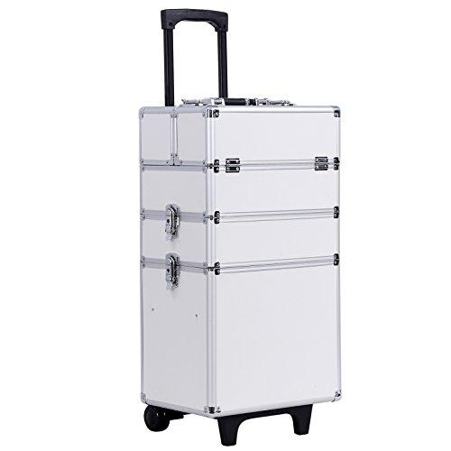 Songmics® Beauty Case Cofanetto Make Up Trolley Bagaglio a mano Valigia Nail Art JHZ01W