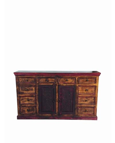 MOTI Historic 2-Carved Door & 10-Drawer Buffet