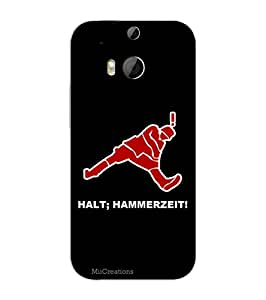 MiiCreations 3D Printed Back Cover for HTC One M8,Halt;Hammerzeit!
