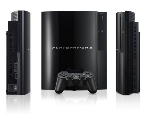 Sony PlayStation 3 80GB Games Console (with a wireless controller)