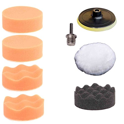 ZFE 3 inch Buffing Pad Auto Car Polishing Wheel Kit Buffer + M14 Drill Adapter Pack of 7pcs (Car Polishing Wheel compare prices)
