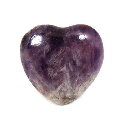 Chevron Amethyst Mini Crystal Heart - 2.5cm