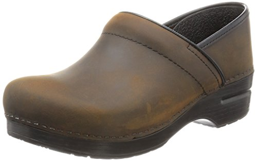 Dansko Women's Professional Oiled Leather Clog,Antique Brown/Black,39 EU / 8.5-9 M US (Women Shoes Brown compare prices)