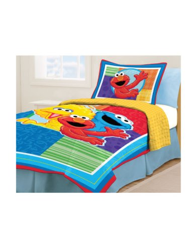 Sesame Street Twin Bed Set