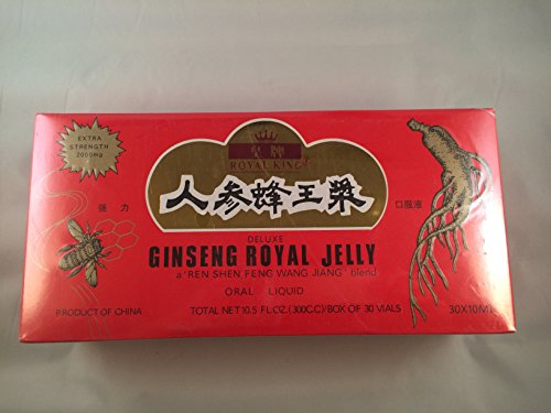 Royal King Deluxe Ginseng Royal Jelly Oral Liquid 60 Vials (Royal Jelly Vials compare prices)