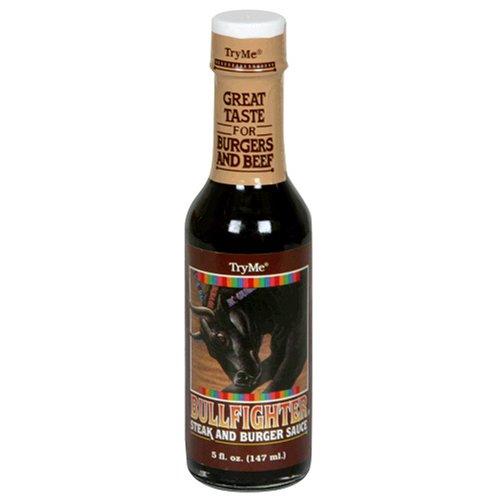 Try Me Bullfighter Steak & Burger Sauce, 5-Ounce Bottles (Pack of 6)