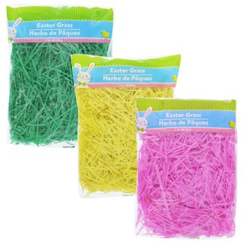 Easter Basket Grass 3x3 oz Bag (Green, Yellow, Pink)