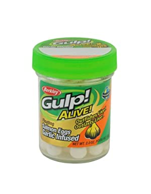 Berkley Gulp Alive Floating Salmon Eggs Soft Bait, 2-Ounce