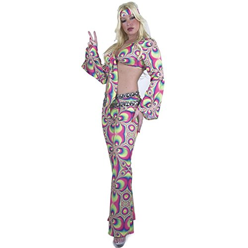 Women's 60's Psychedelic Hippie Costume (Size: X-Small 3-5)