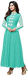 Ecoco Fashion Women's Unstitched Salwar Suit (Turquoise)