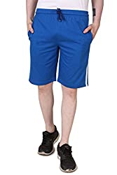 Aventura Outfitters Single Jersey Shorts Royal Blue with Two White Stripes - L (AOSJSH301-L)