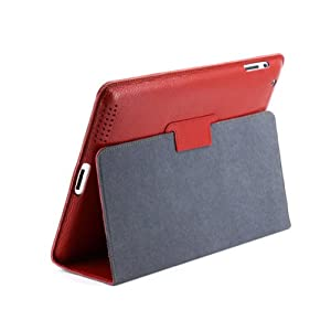 Yoobao Executive Cow Leather Book Style Case for Apple Ipad 2 Gen Red