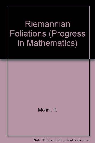 Riemannian Foliations (Progress in Mathematics) PDF