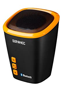 Duronic SPB2/OE Wireless Bluetooth Portable Rechargeable Bass Speaker with Mic - Orange