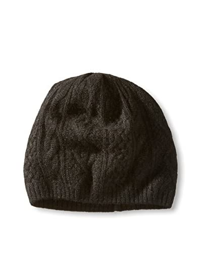 Thirty Five Kent Men's Cashmere Three Cable Hat, Black