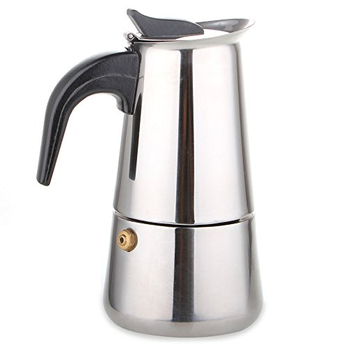 Stainless Steel Stovetop Espresso Moka Coffee Maker Latte Percolator 9-Cup