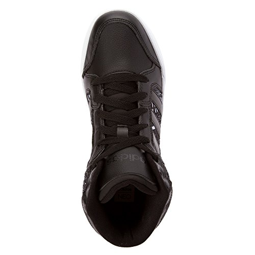 Adidas NEO Women's Bbadidas Performance Raleigh Mid W Basketball Fashion Sneaker,Black/Black/White,7.5 M US